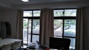 ベランダの向かい側は笹塚小学校です